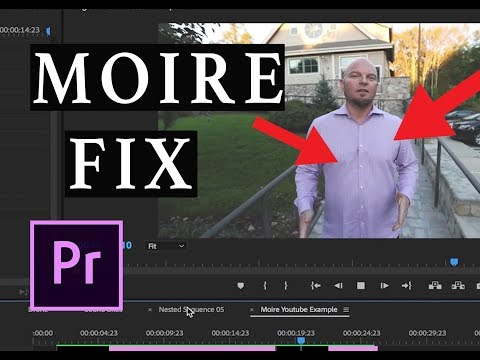 How to fix Moire & Aliasing in Premire Pro CC