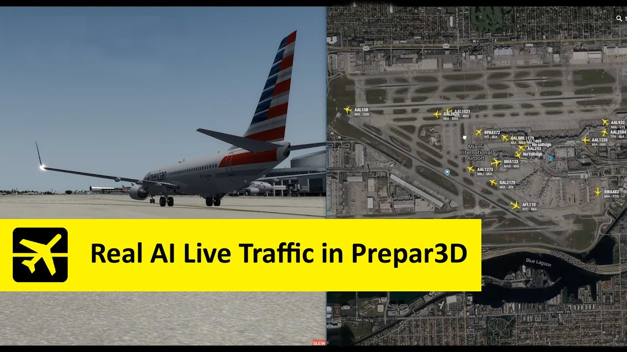 AI Live Traffic – Real live airline flights in your Flight
