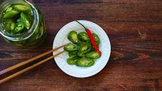 Pickled Green Chilies