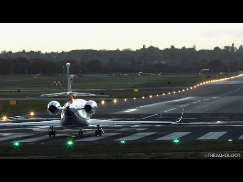 [4K] Business Jets at RAF Northolt - Sunset Plane Spotting