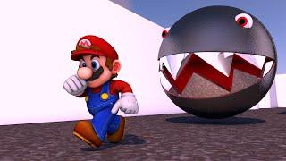 Super Mario Vs Chain Chomp Pacman