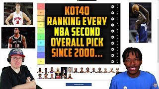 Reacting To KOT4Q Ranking Every NBA Second Overall Pick Since 2000 Tier List