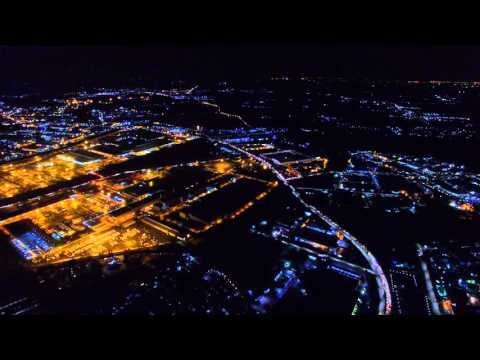 Eastern Seaboard Industrial Estate Rayong at Night : DJI Phantom 3 Professional