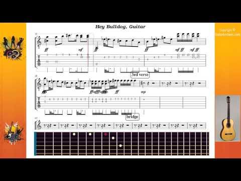 Hey Bulldog - Beatles The - Guitar