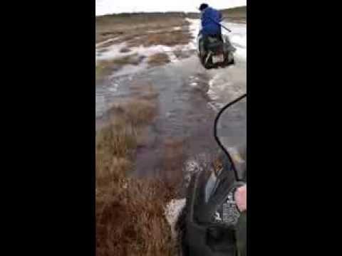 ютуб видео рыбалка на снегоходах