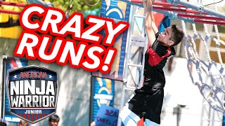 8 Crazy Intense Ninja Runs from Season 2  | American Ninja Warrior Junior | Universal Kids