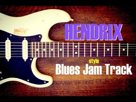 Slow Blues Jam Backing Track - Hendrix Style (E)