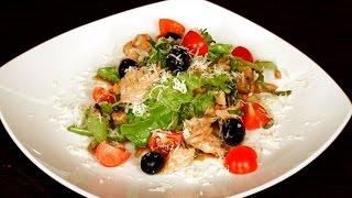 «Утренний канал» - салат с креветками