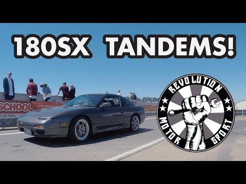 180SX TANDEM DRIFTING | Wakefield Park