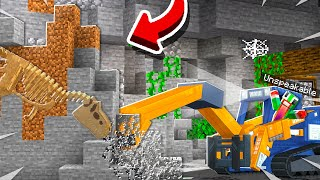 DIGGING FOR A T-REX IN MINECRAFT!