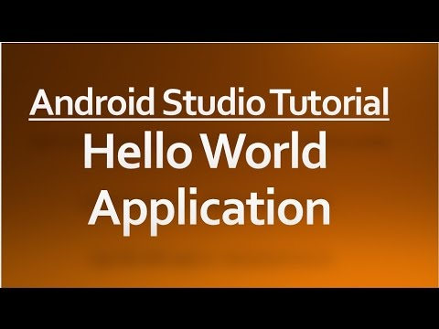 Android Studio tutorial - 01 - Hello world application