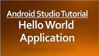 Video Android Studio tutorial - 01 - Hello world application download MP3, 3GP, MP4, WEBM, AVI, FLV Juli 2018