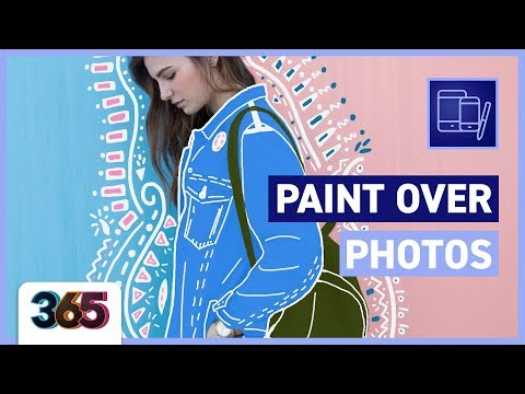 Paint over photos with ProCreate | tips & time-lapse #9/365 Days of Creativity