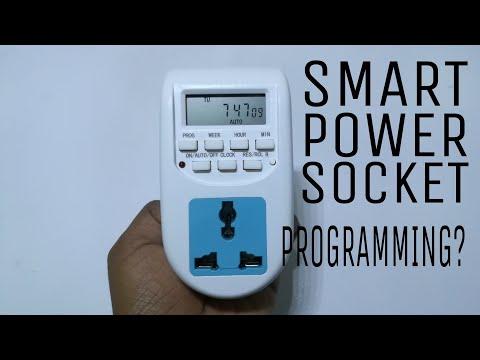 Digital socket timer programming