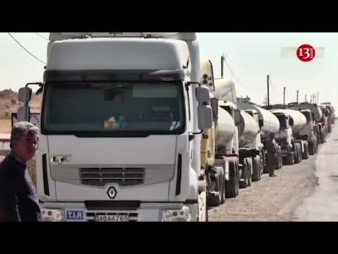İran tırları Gorus-Qafan yolunda QALDI: Sürücülər ETİRAZA QALXDI