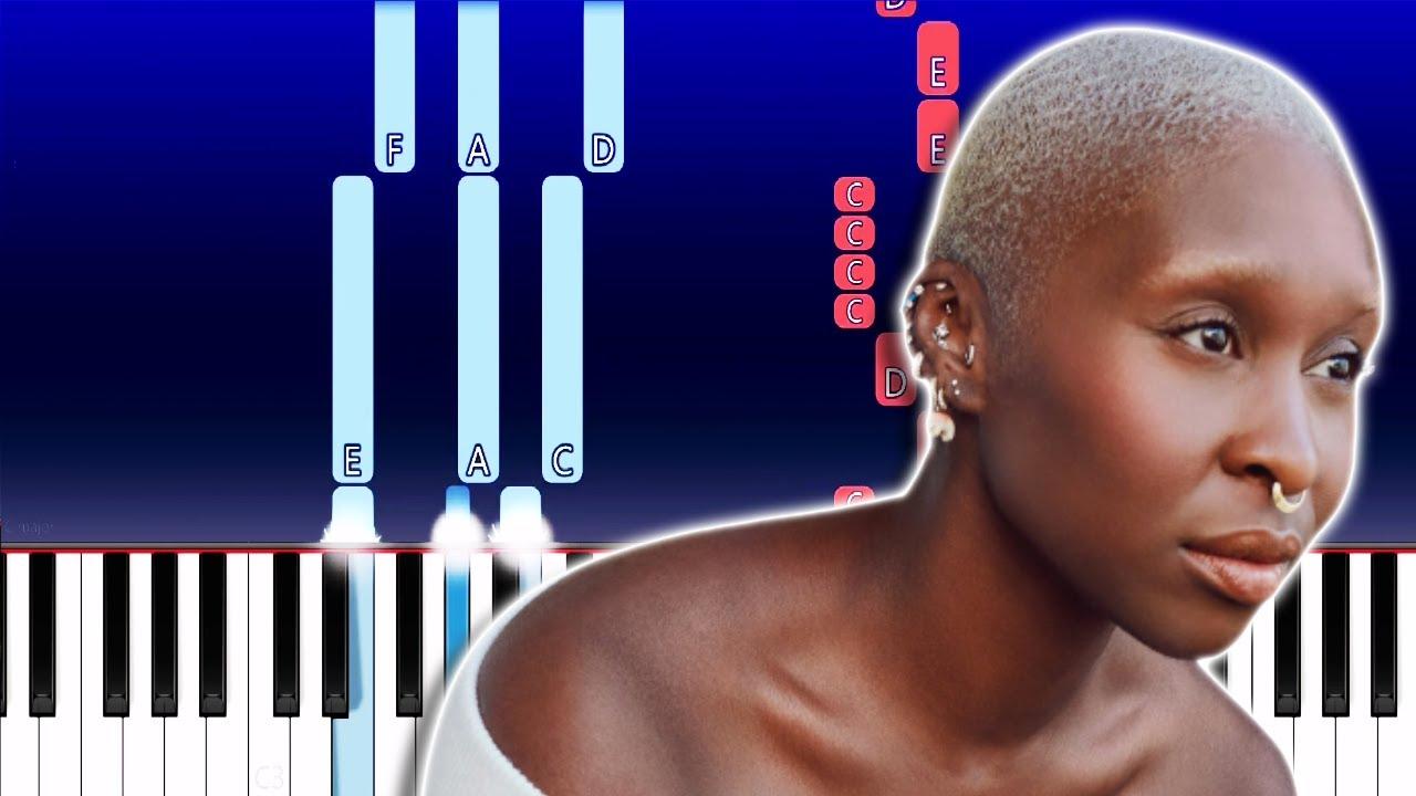 Cynthia Erivo  Stand Up Piano Tutorial