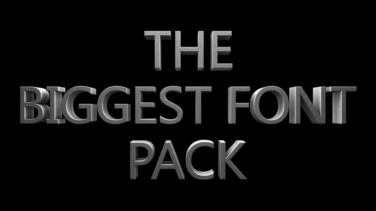 BIGGEST FONT PACK ON YOUTUBE!! Free Download - YouTube