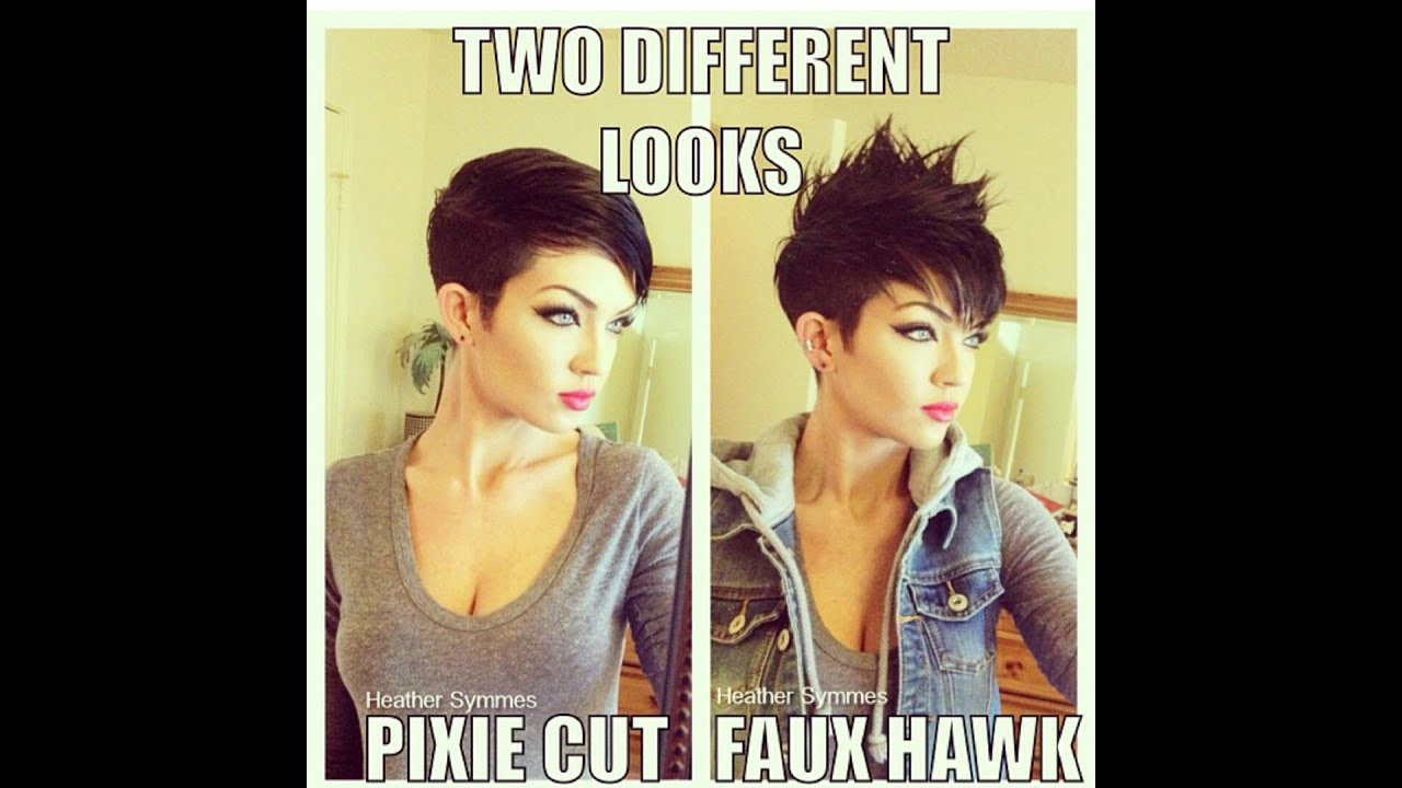 How to style a pixie haircut 2 different ways YouTube