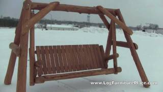 Cedar Lake Massive Cedar Log Swing From Logfurnitureplace.com