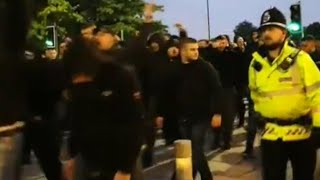 Bad Blue Boys corteo in Manchester 01-10-2019