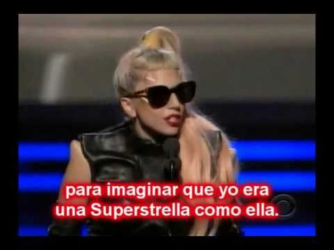 "Lady GaGa talks about ""Superstar Whitney Houston"" at Grammys 2011"