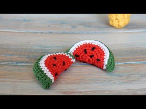 How to Crochet a Mini Watermelon Slice
