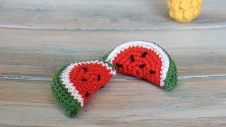 How to Crochet a Mini Watermelon Slice
