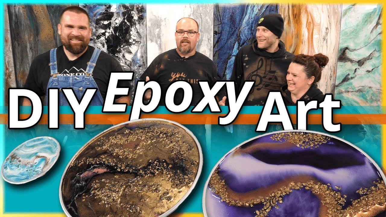 DIY Epoxy Art with Mixed Media Girl   Stone Coat Countertops