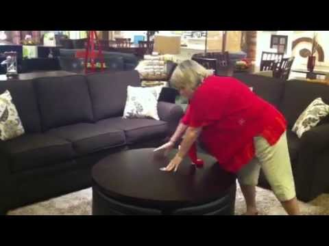 Charmant Palma Furniture In San Diego   Gas Lift Coffee Table With Ottomans   YouTube