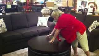 Palma Furniture In San Diego -  Gas Lift Coffee Table With Ottomans