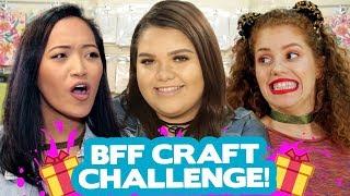 DIY BFF CRAFT CHALLENGE?! w/ Karina Garcia, Mahogany Lox & DanicaMMakeup