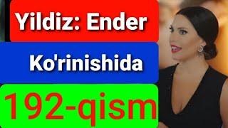 Qora Niyat 192 qism uzbek tilida turk filim кора ният 192 кисм