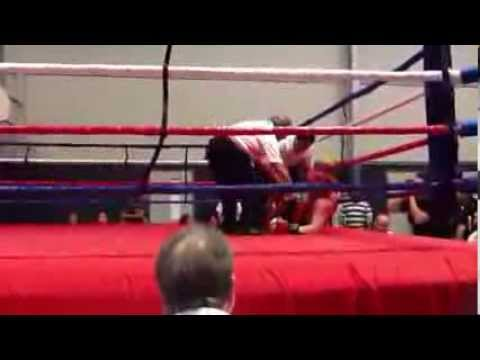 Houston Golden Gloves 2014 Steve Boman KO's opponent