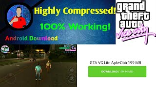 (199Mb)GTA VC Lite Version Download|For Android|For All GPU|100%Working!