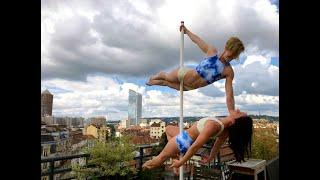 démo pole dance Lyon Académie Elisabetta/ cours pole dance lyon