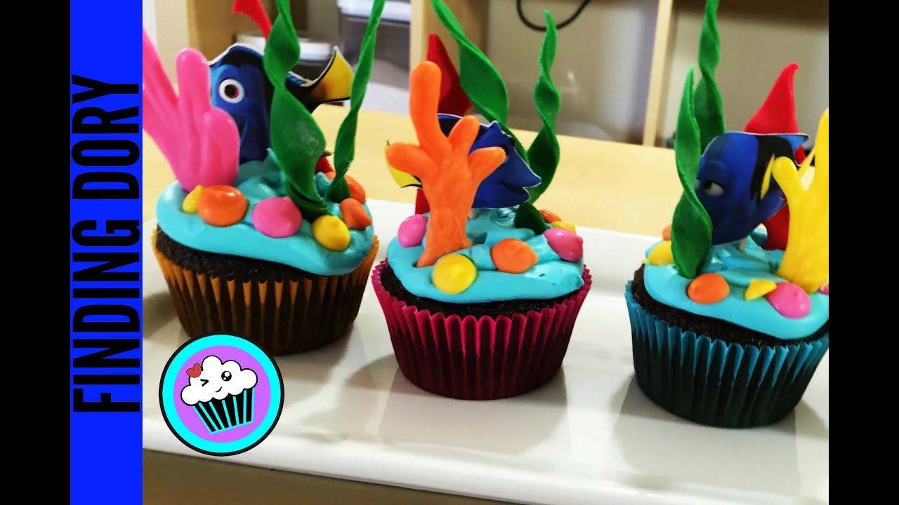 How to make Finding Dory Cupcakes Pinch of Luck YouTube