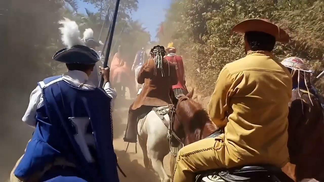 Cavalgada 2019, Cavaleiros chegando na Pedra do Reino