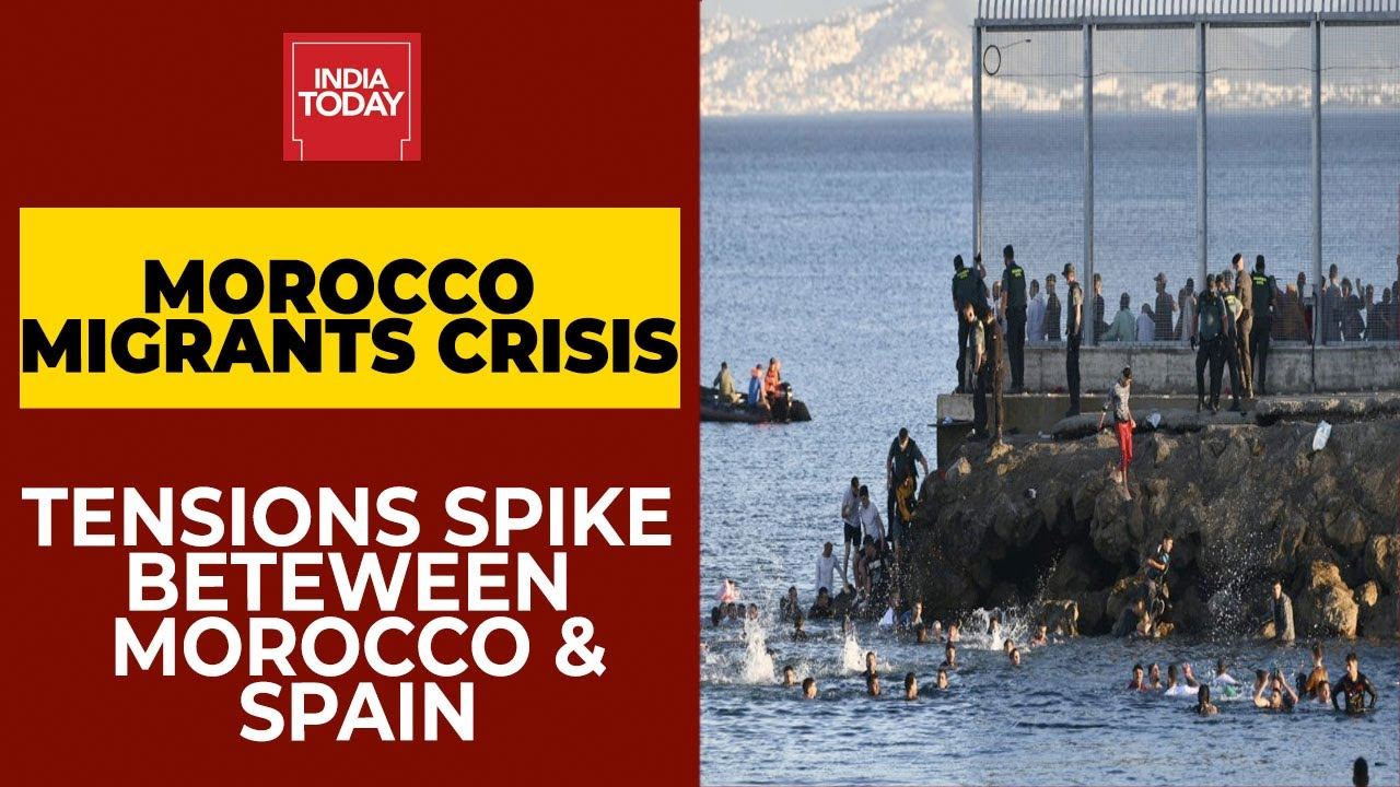 Morocco Migrant Crisis: 3000 Migrants Swim Into Spain's Ceuta, Spanish Soldiers Push Back Migra