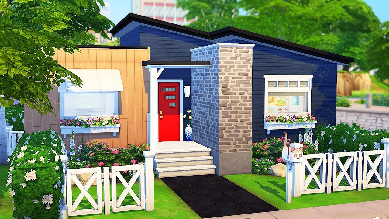 TINY HOUSE FOR TEEN PARENTS WITH TRIPLETS   The Sims 4   Speed Build