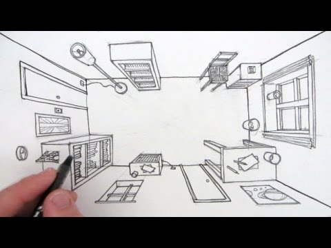 How To Draw A Room In One Point Perspective A Bird S Eye