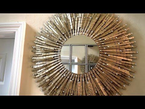 Dollar Tree DIY - 💕 Gold Sunburst Wall Mirror 💕