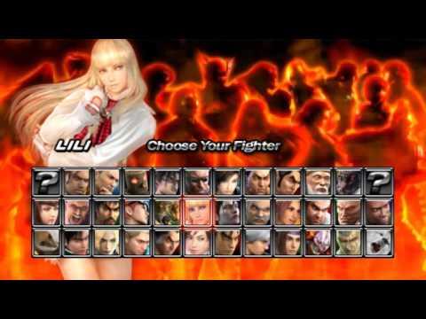 Tekken 5 Dark Resurrection Psp Character Select Youtube