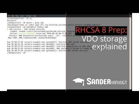 RHCSA 8 Prep: Virtual Data Optimizer (VDO) Storage Explained  - Sander Van Vugt