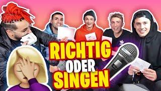 RICHTIG oder SINGEN!!! | mit CrispyRob, Danergy, Falco & Filipe