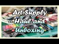 2019 Amazon Art Haul and Unboxing