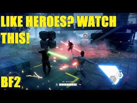 Star Wars Battlefront 2 - Took a team to take Endor! Rey, Finn, Luke, Han, Finn again, and Lando XD