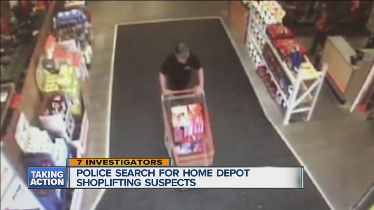 Search for Home Depot shoplifting suspects