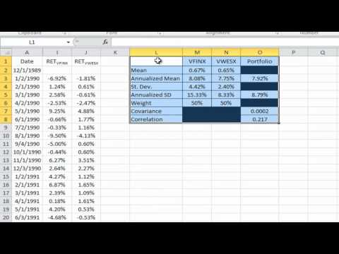 BYU BUSM410 Portfolio Optimization with Two Assets.mp4