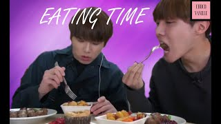 BTS (방탄소년단) dinner's ready !!! Eating time (Part 1)