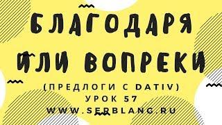 Сербский язык. Урок 57. Предлоги - Dativ